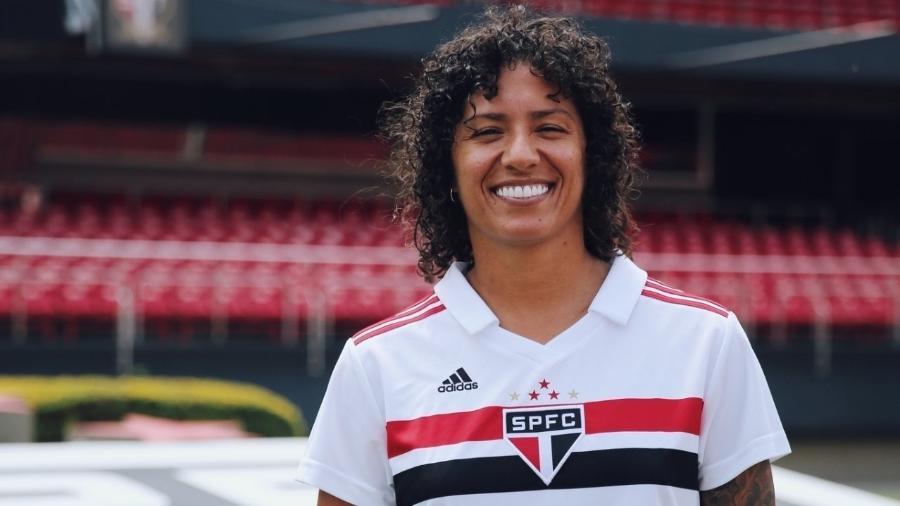 Atacante Cristiane será a grande estrela do time feminino do São Paulo para a temporada 2019 - Renata Damasio/saopaulofc.net