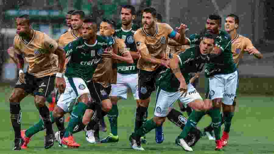 Palmeiras x Santos é um dos jogos deste sábado pela quinta rodada do Brasileiro - Ale Cabral/AGIF