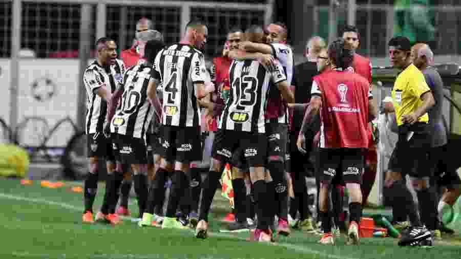 Jogadores do Atlético-MG comemoram gol contra o La Equidad - Bruno Cantini / Atletico