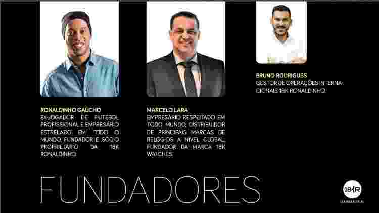 18kRonaldinho presents former player as founder of the business - Reproduction