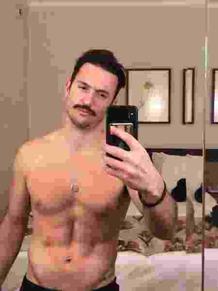 Diego Hypolito posta foto de bigode nas redes sociais - Reprodução/ Instagram