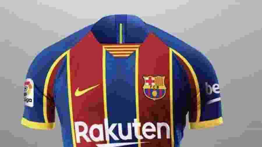 Suposta nova camisa do Barcelona - Reprodução / Twitter