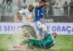 Corinthians x Santo André: gramado da Arena não aguenta chuva e web reage