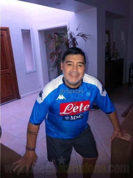 Diego Maradona comemora título do Napoli na Copa da Itália - Reprodução/Instagram