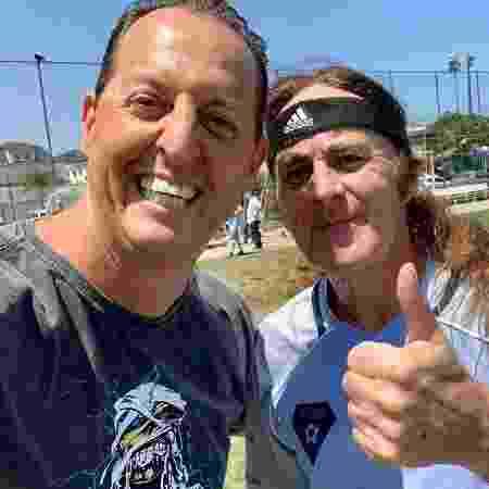 Benjamin Back e Steve Harris, baixista e líder da banda Iron Maiden - Arquivo/Benjamin Back - Arquivo/Benjamin Back