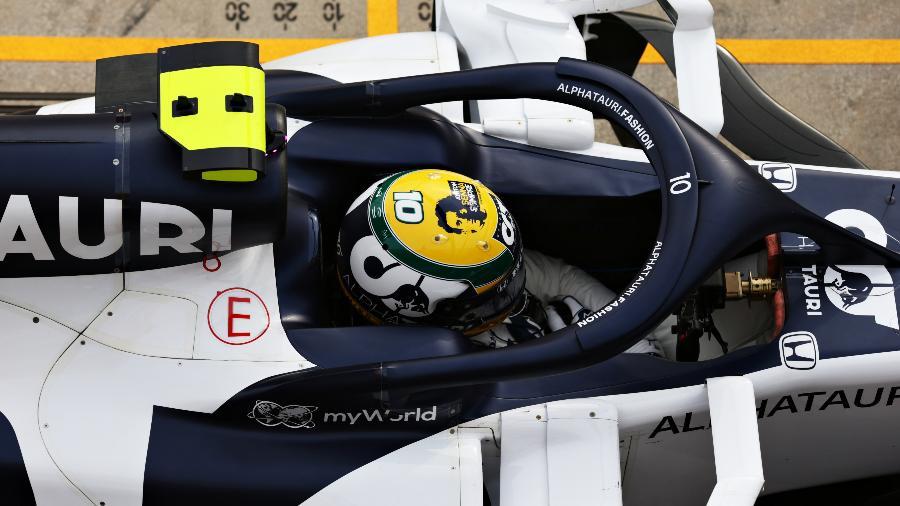 Pierre Gasly, da AlphaTauri, durante o GP da Emilia Romagna, em Imola - Peter Fox/Getty Images