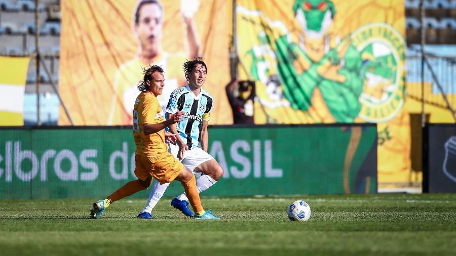 Pedro Geromel em duelo entre Grêmio e Brasiliense pela Copa do Brasil - Lucas Uebel/Grêmio