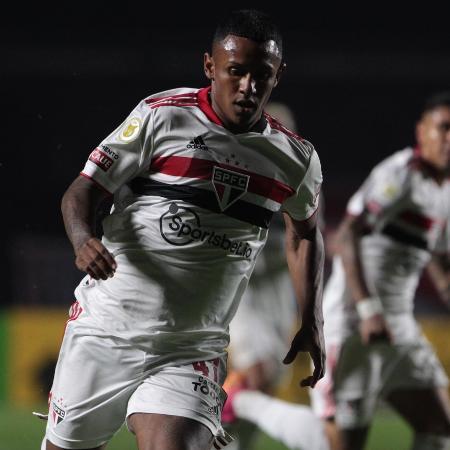 Marquinhos, atacante do São Paulo, durante a partida contra o Bahia - Miguel SCHINCARIOL/São Paulo FC
