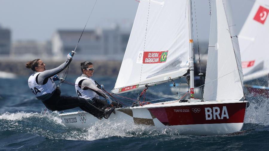 Brasileiras chegaram a ganhar duas regatas ao longo da competição em Tóquio-2020 - Phil Walter/Getty Images