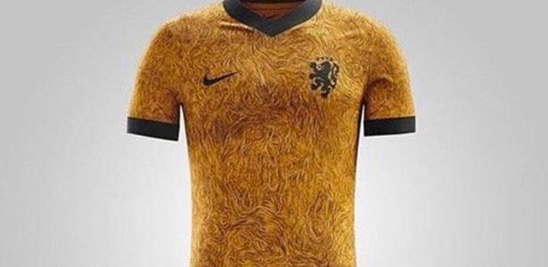 Imagem de uniforme foi divulgada nas redes sociais; KNVB desmentiu autenticidade