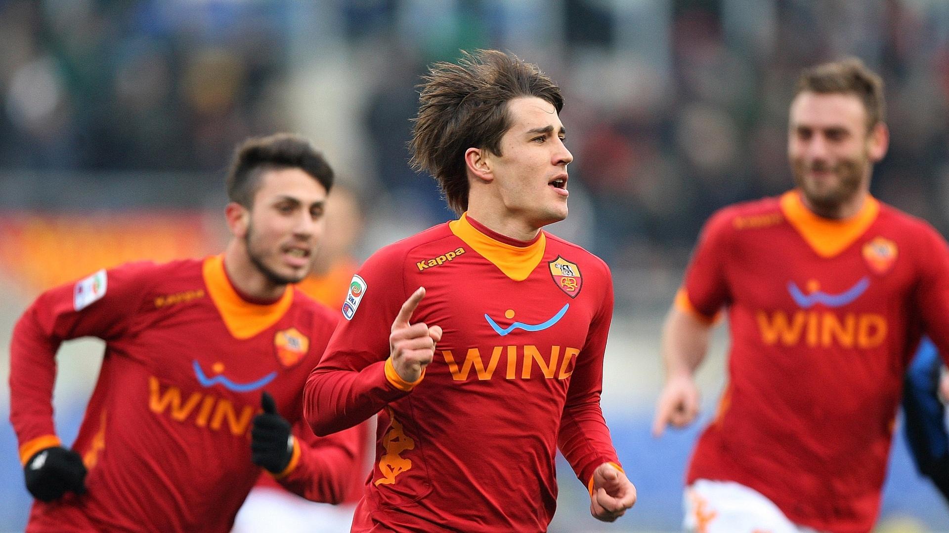 Bojan Krkic comemora gol pela Roma