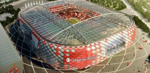 Estádio do Spartak Moscou será uma das sedes da Copa do Mundo de 2018