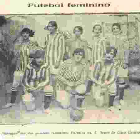 Futebol jogado por mulheres era apresentado como espetáculo de circo - Arquivo Biblioteca Nacional do Rio de Janeiro - Arquivo Biblioteca Nacional do Rio de Janeiro