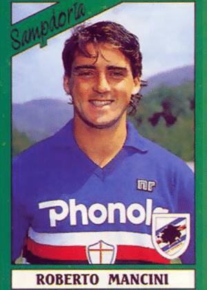 ROBERTO MANCINI, hoje no Zenit-RUS, foi atacante da Sampdoria por 15 anos, entre 1982 e 1997
