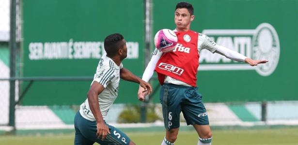 Voltando de lesão, lateral Diogo Barbosa treinou com bola no Palmeiras