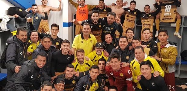 Equipe tinha aproveitamento baixo quando ídolo argentino assumiu, em setembro - Reprodução/Twitter