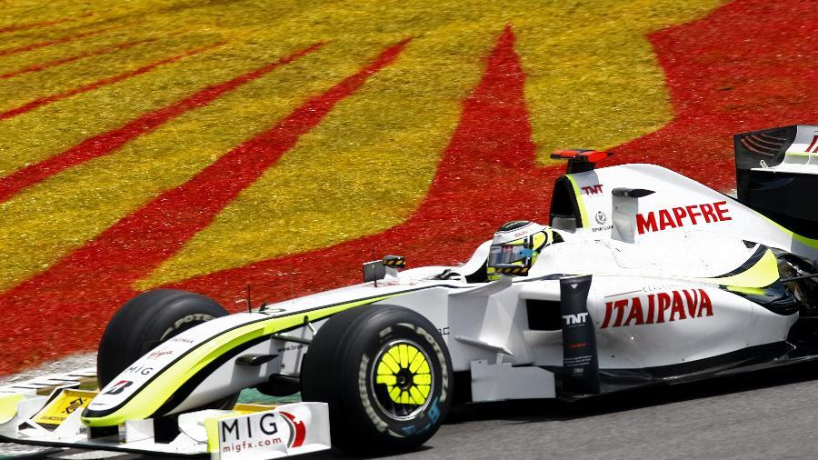 Jeson Button no GP do Brasil de 2009 pela Brawn GP - Almeida Rocha/Folha Imagem