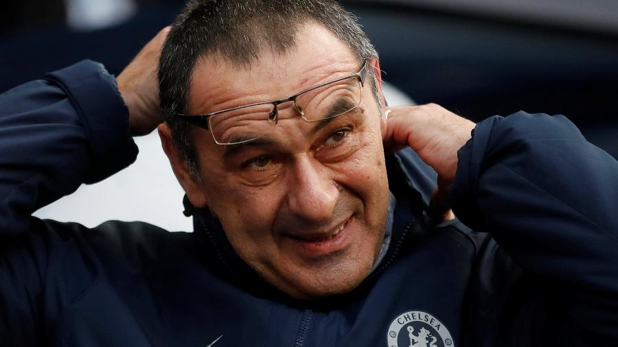 """Para Maurizio Sarri, Manchester City jogou um """"futebol fantástico"""" na goleada por 6 a 0 sobre o Chelsea - Carl Recine/Reuters"""
