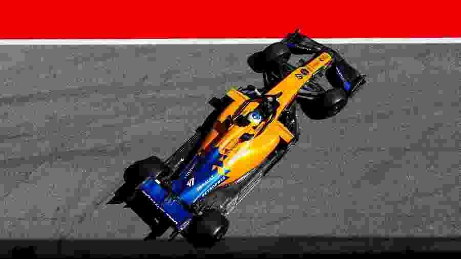 Sergio Sette Câmara participou de treino da F-1 na Espanha - Reprodução/Twitter McLaren