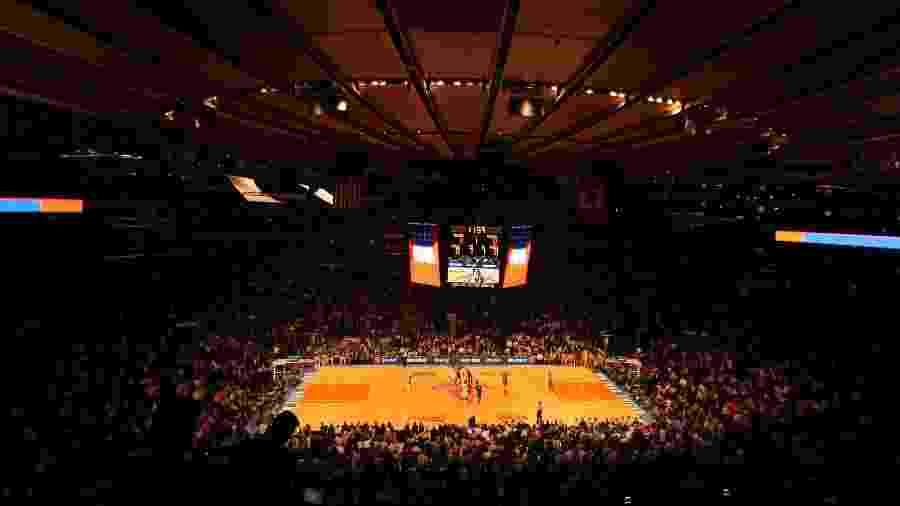 Madison Square Garden, a casa dos Knicks: equipe figura longe da briga por uma vaga nos playoffs - Justin Heiman/AFP