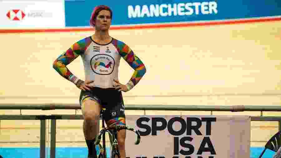 Rachel McKinnon, ciclista trans canadense  - OLI SCARFF / AFP