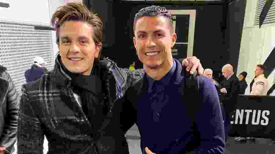 Luan Santana com Cristiano Ronaldo - Reprodução/Instagram