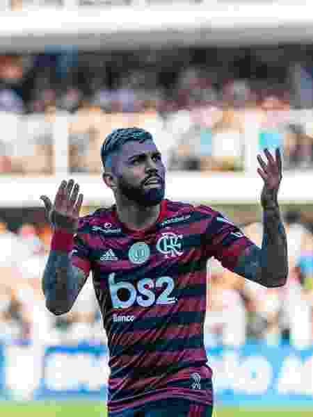 Gabigol reencontra a Vila Belmiro em confronto entre Santos e Flamengo - RICHARD CALLIS/FOTOARENA/ESTADÃO CONTEÚDO