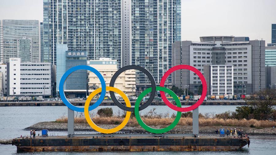 Anéis Olímpicos em Tóquio - Alessandro Di Ciommo/NurPhoto via Getty Images