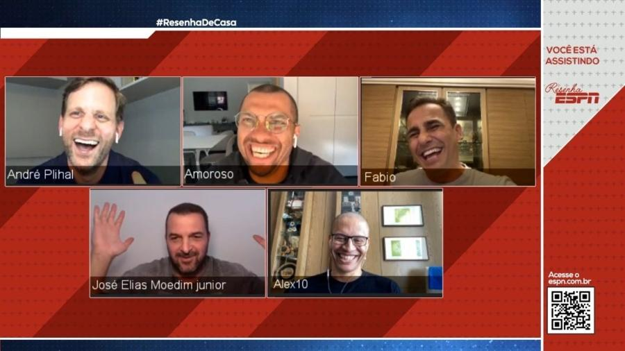 Resenha ESPN, feito da casa dos participantes durante a pandemia  - Divulgação