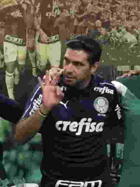 Abel Ferreira, após a vitória do Palmeiras sobre o Athletico-PR - Reprodução/TV Palmeiras
