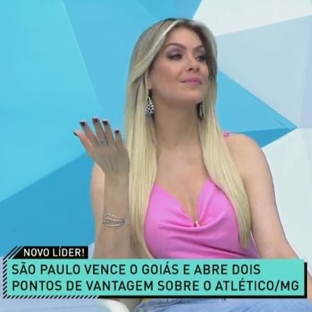 Renata Fan, apresentadora do Jogo Aberto - Reprodução/Band