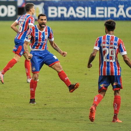 Gilberto, do Bahia, perdeu pênalti diante do Independiente - Jhony Pinho/AGIF