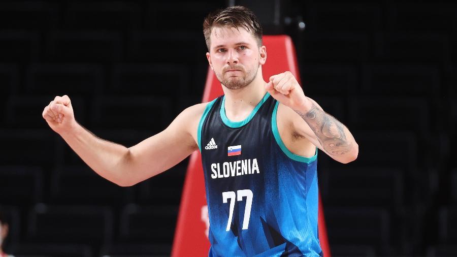 Luka Doncic fez 85 pontos e é quem mais pontuou no torneio olímpico até aqui - Gregory Shamus/Getty Images