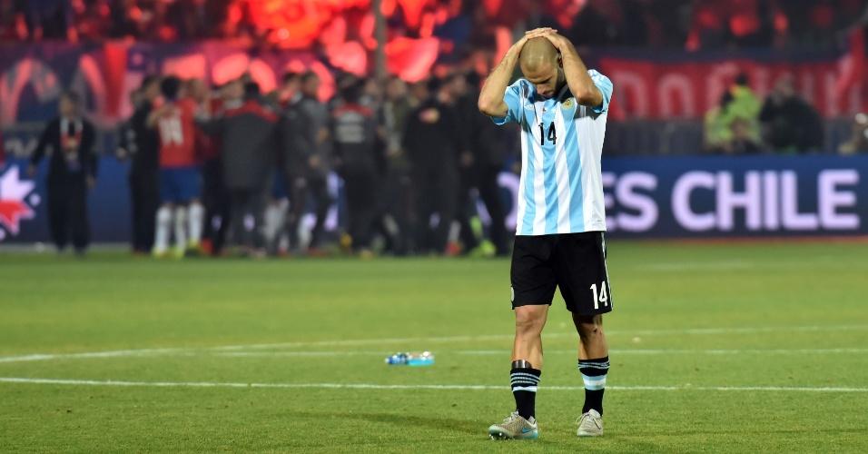 Mascherano lamenta derrota na final da Copa América para o Chile
