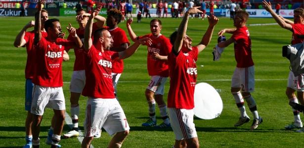 O Bayern confirmou a conquista do título alemão no último final de semana