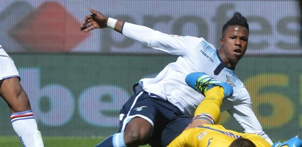 Keita Baldé durante jogo da Lazio no Campeonato Italiano