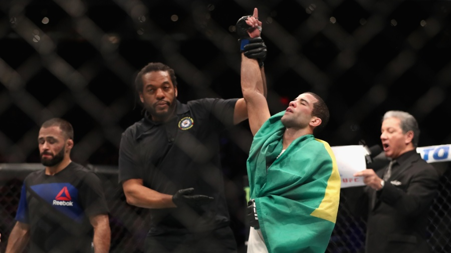 "Augusto Mendes ""Tanquinho"" comemora vitória  - Christian Petersen/AFP"