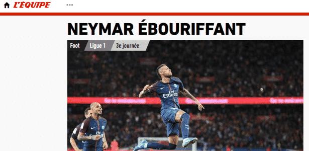 Neymar no L'Équipe - Reprodução - Reprodução