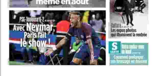 Capa do Le Parisien destacando Neymar - Reprodução - Reprodução