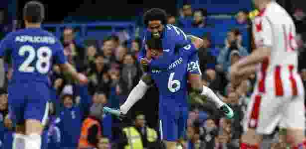 Willian teve participação decisiva na goleada do Chelsea deste sábado - Divulgação/Chelsea