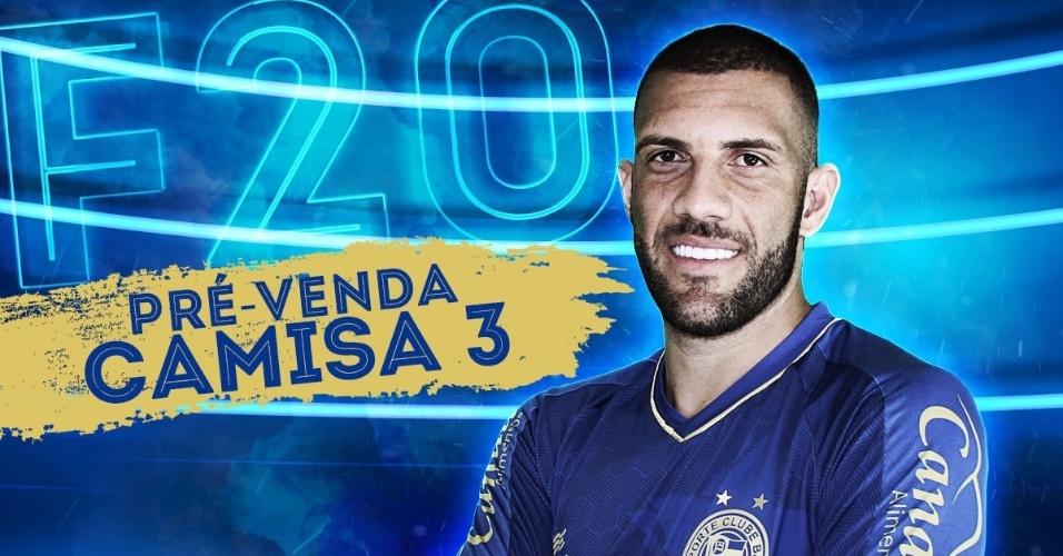 Fernandão posa com novo uniforme 3 do Bahia