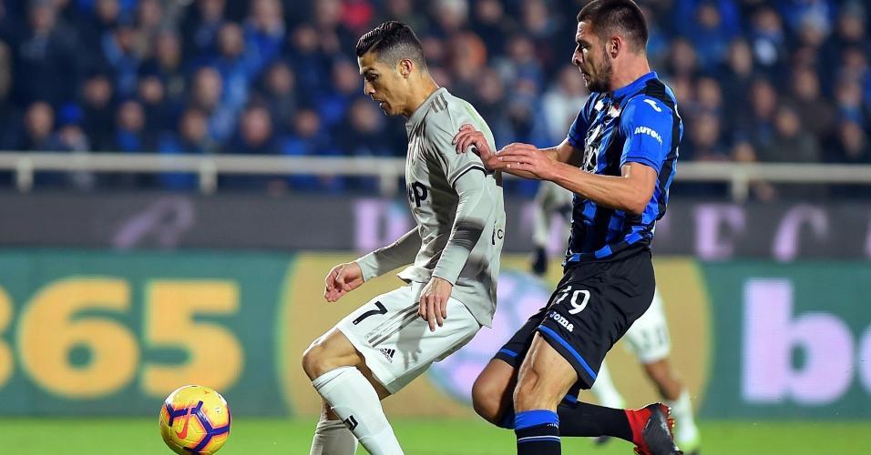 Cristiano Ronaldo em ação contra Atalanta