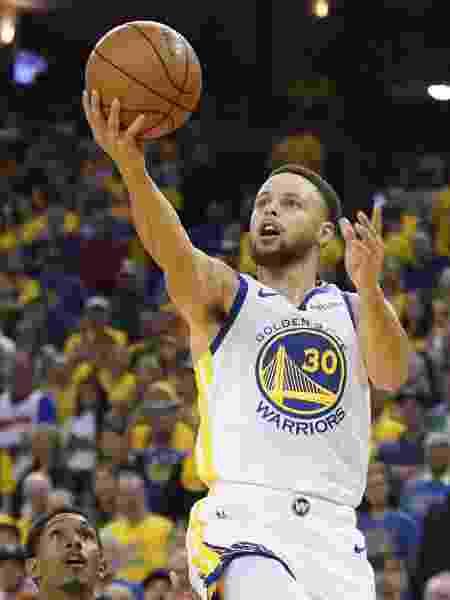 Stephen Curry durante vitória do Golden State Warriors sobre o Los Angeles Clippers - Kyle Terada-USA TODAY Sports