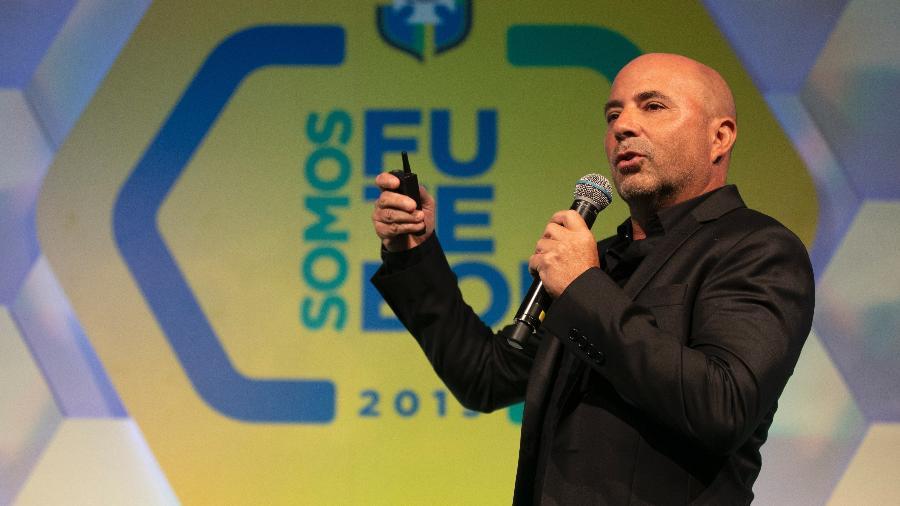 Jorge Sampaoli faz palestra em seminário realizado pela CBF - Lucas Figueiredo/CBF