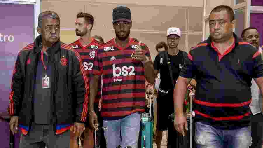 Reforços do Flamengo, Gerson e Pablo Marí chegam ao Rio de Janeiro  - Marcelo Cortes / Flamengo