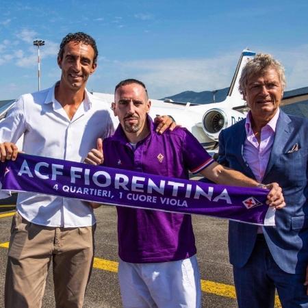 Franck Ribéry defende a Fiorentina - Reprodução/Twitter