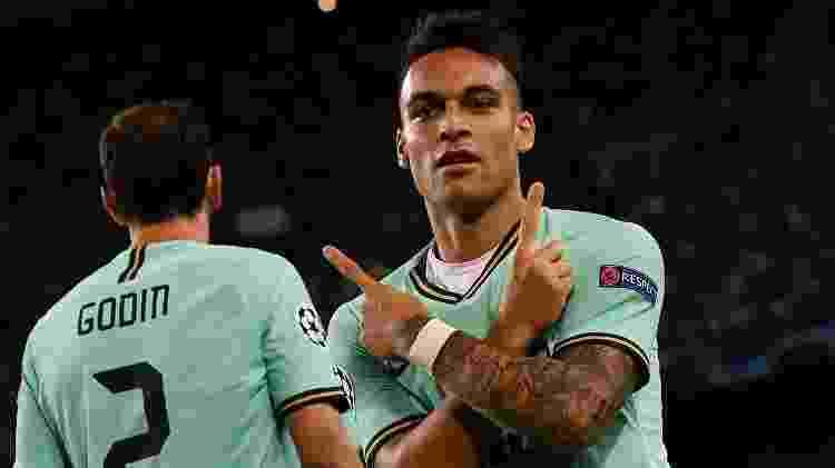 Lautaro Martínez abriu o placar pela Inter de Milão contra o Barcelona - LLUIS GENE / AFP