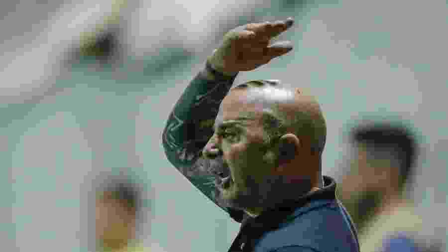 Jorge Sampaoli, técnico do Atlético-MG, durante partida contra o Villa Nova - Bruno Cantini/Agência Galo/Atlético