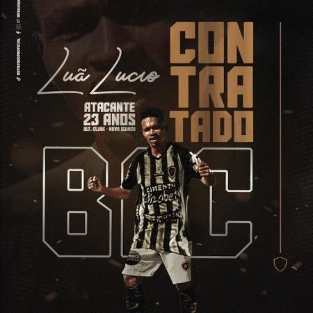 Luã Lúcio atuou pelo Nova Iguaçu no Campeonato Carioca - Reprodução/Instagram