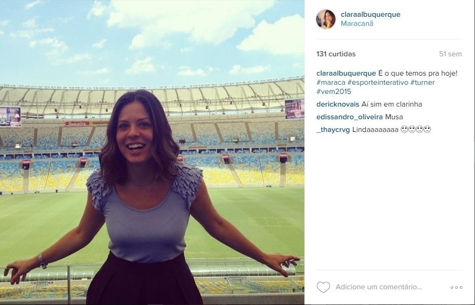 Clara Albuquerque, comentarista do Esporte Interativo